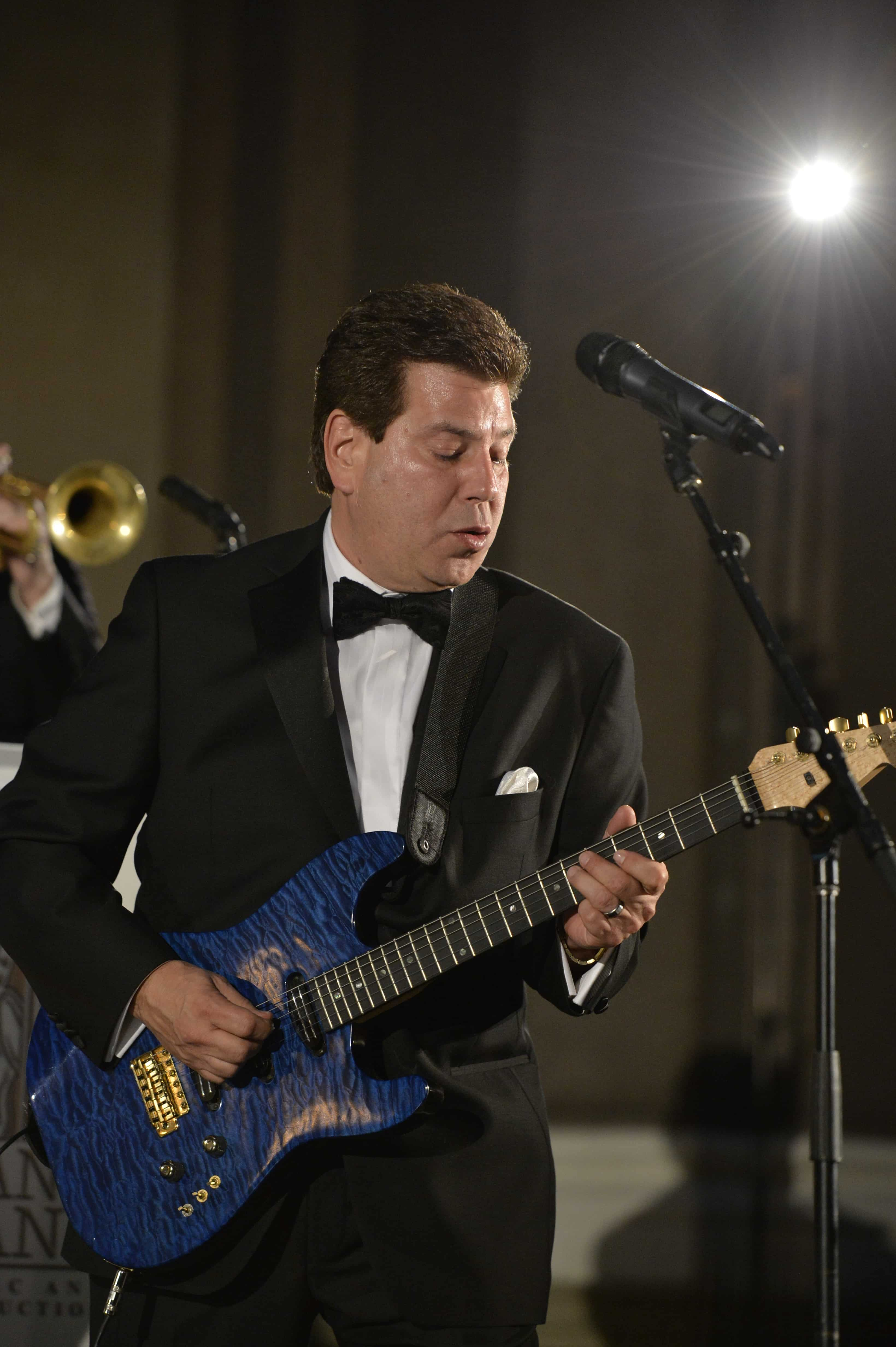 Band leader Mike Herman leads the Mike Herman Band for Hank Lane Music