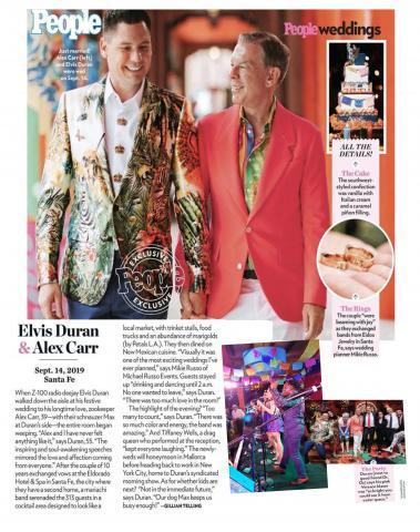 Hank Lane Music's Kevin Osborne Band performed at Elvis Duran's wedding
